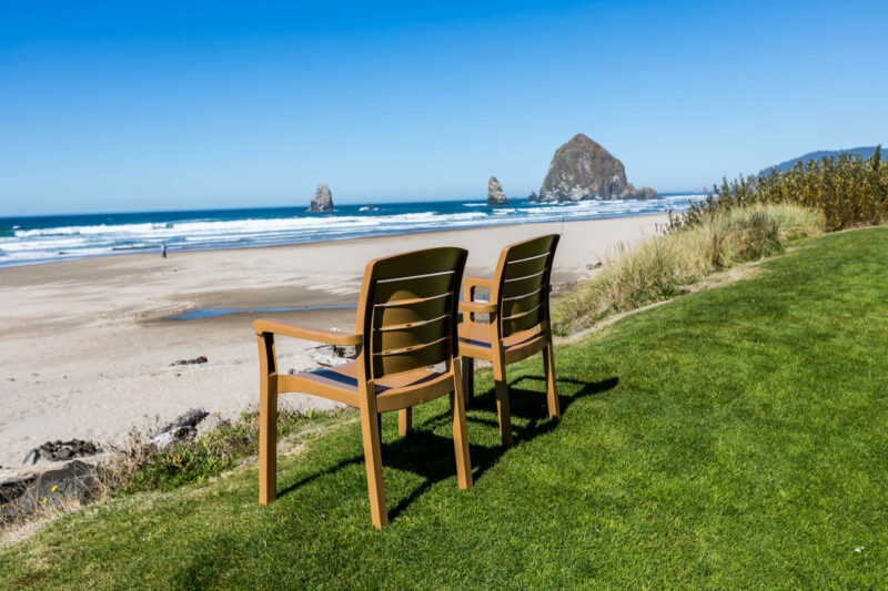 Relax by haystack rock
