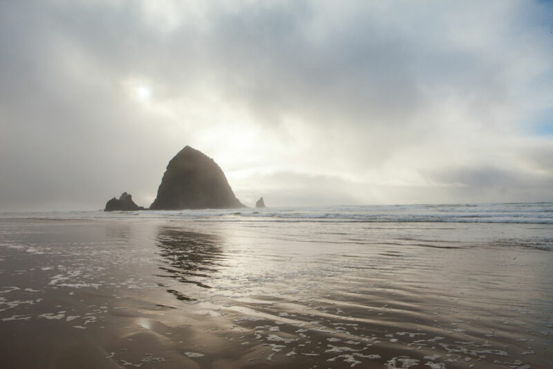 Stormy day in Cannon Beach, Oregon