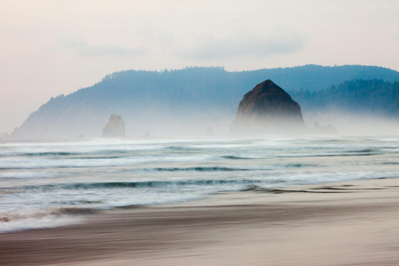 Foggy day in Cannon Beach