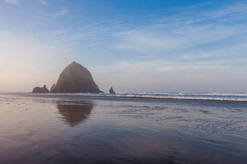 Cannon Beach Oregon view of Haystack Rock