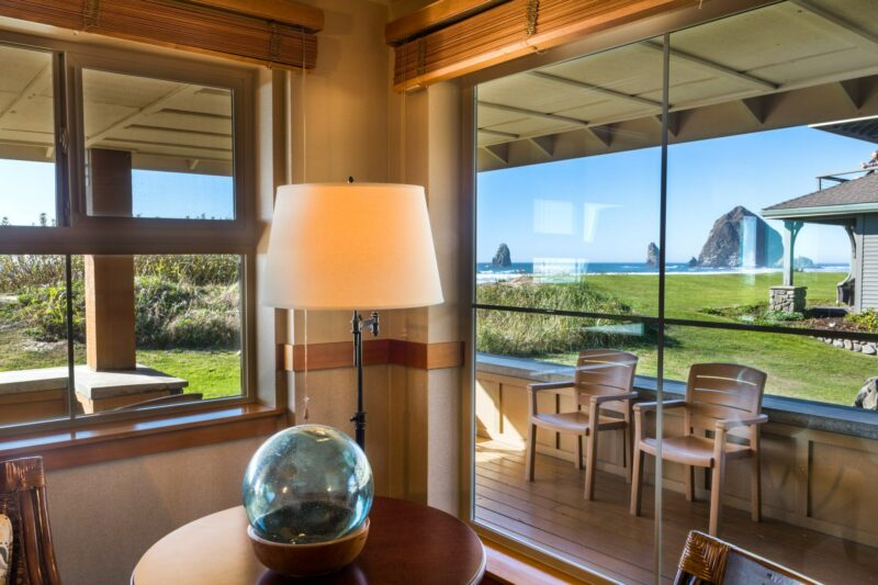 Haystack view in our Oceanfront Corner King Studio