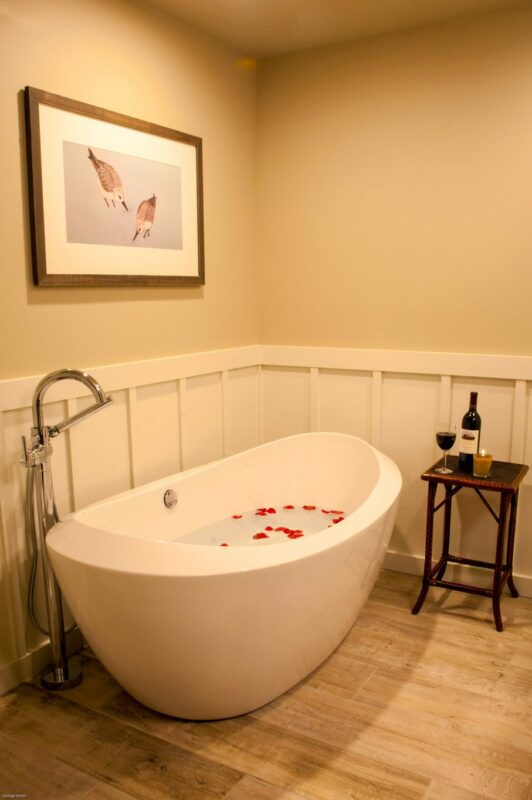 Roses in the stunning tub